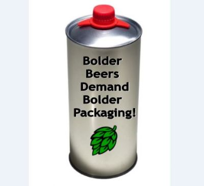 Bolder Beers Demand Bolder Packaging - GRAN Can - 64oz Growler Cans
