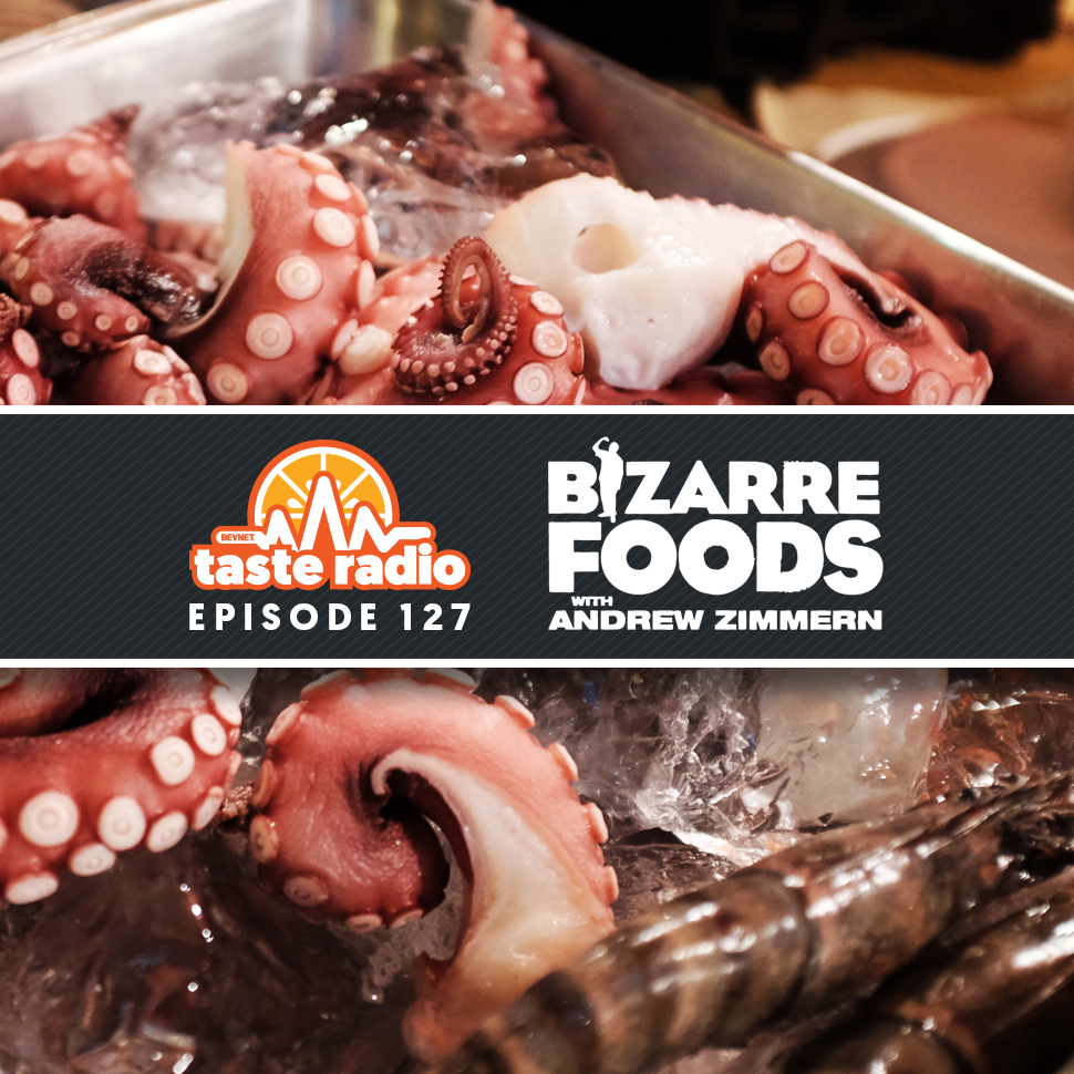 Andrew Zimmern of Bizarre Foods and Intelligentsia Coffee CEO on Taste Radio