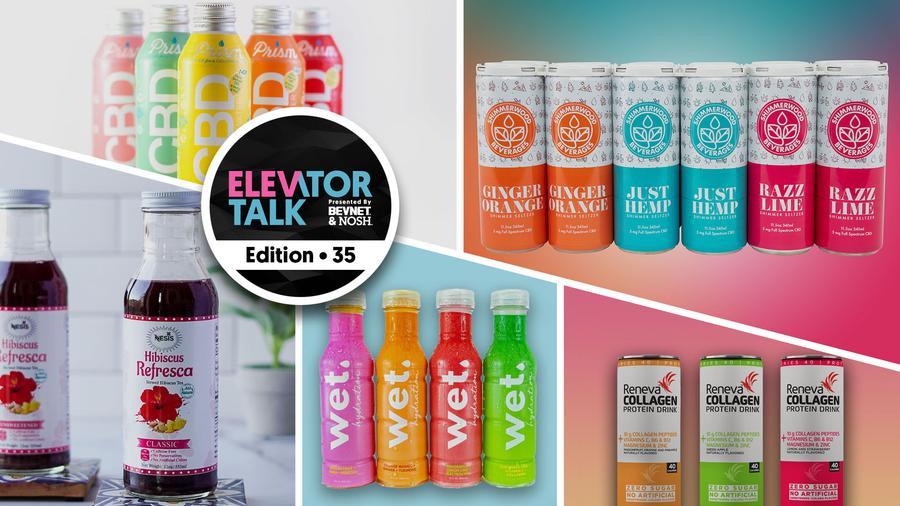 Elevator Talk Ep. 35: Nesis Tea, Shimmerwood Beverages, Reneva Collagen Drink, Wet Hydration, and Prism Beverages