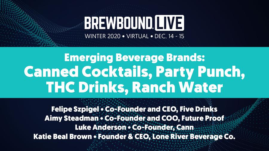 Brewbound Live Winter 2020: Emerging Beverage Brands: Canned Cocktails, Party Punch, THC Drinks, Ranch Water
