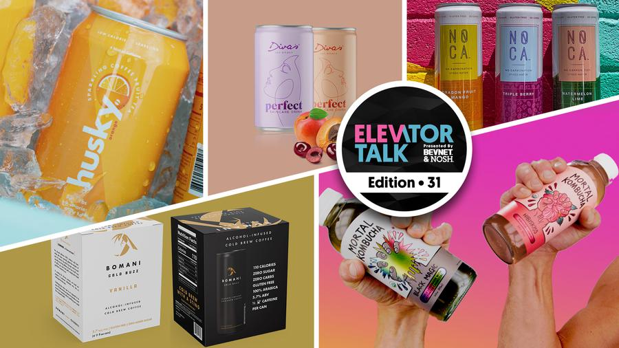 Elevator Talk Episode 31: Husky Beverages, Mortal Kombucha, Diva's Drink, NOCA, and BOMANI Cold Buzz