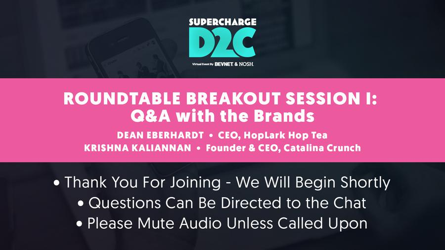 D2C: Roundtable Breakout: Optimizing Packaging