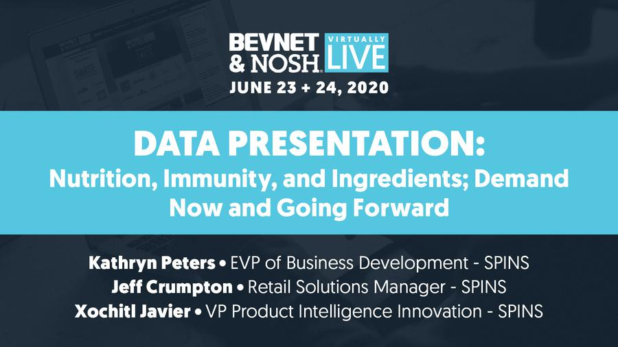 Virtually Live 2020: Data Presentation: Nutrition, Immunity, and Ingredients; Demand Now and Going Forward