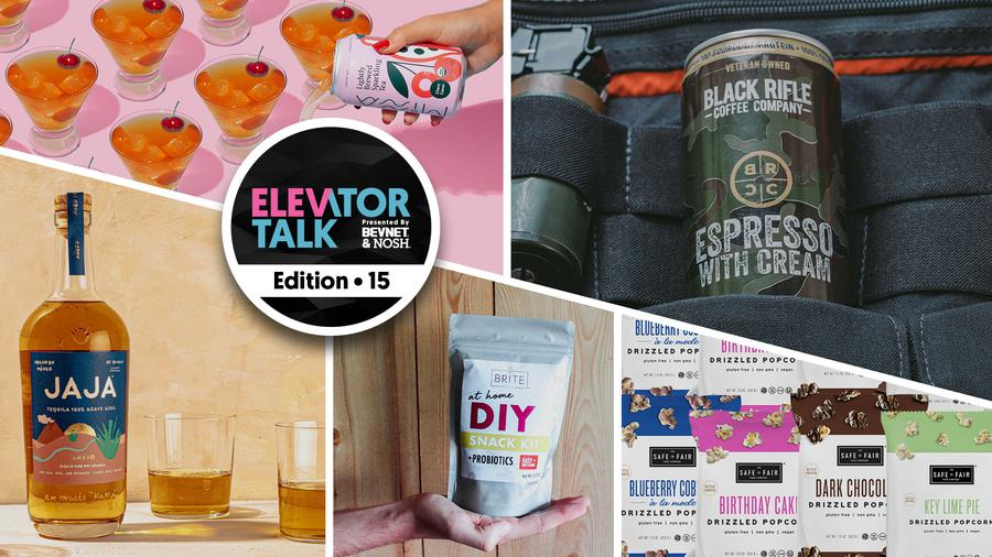 Elevator Talk Ep. 15: Safe + Fair, BRITE Bites, Black Rifle Coffee, Minna, JAJA