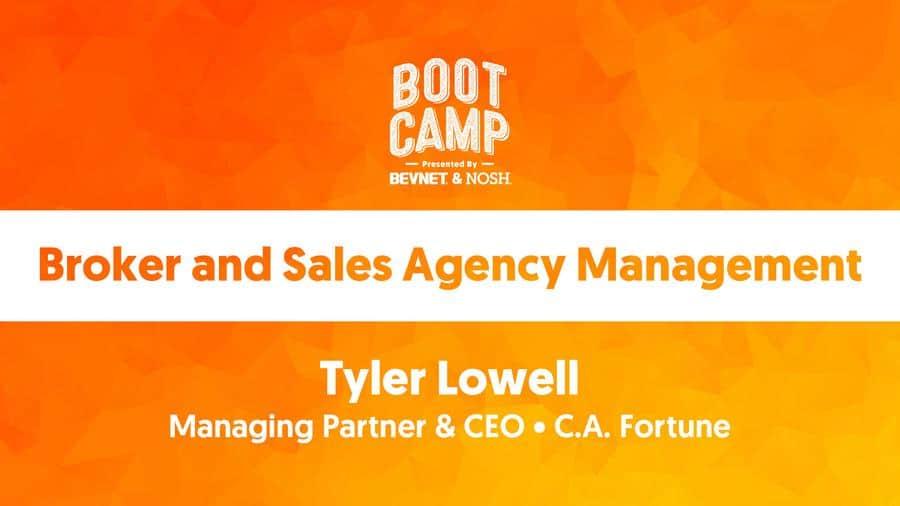 BevNET & NOSH Boot Camp 2021: Broker and Sales Agency Management